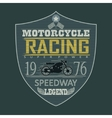 Motorcycle Racing emblem t-shirt vector image