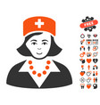 nurse icon with dating bonus vector image vector image
