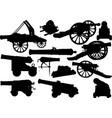 old artillery set vector image vector image