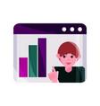 online activities business businesspeople vector image