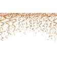 Orange ribbons and confetti vector image