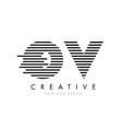 ov o v zebra letter logo design with black and vector image vector image
