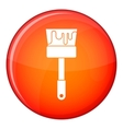 Paint brush icon flat style vector image vector image