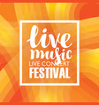 poster for a concert or festival of live music vector image vector image
