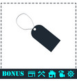 price tag icon flat vector image vector image