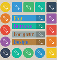 Pushpin icon sign Set of twenty colored flat round vector image vector image
