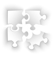 puzzle pieces with shadow effect isolated vector image vector image