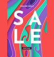 sale trendy banner fashion colorful template vector image