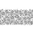 seamless black full floral brush vector image vector image