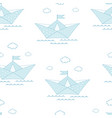 seamless pattern cute sailboat isolated vector image