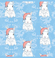 seamless pattern with cute cartoon bunny and vector image vector image