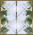 seamless pattern with tropical leaves gold vector image