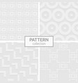 set four abstract seamless patterns white vector image vector image