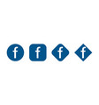 set icons social network signs vector image