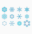 set of abstract symmetric geometric shapes vector image vector image