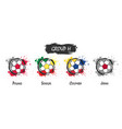 set of national football team group h vector image vector image
