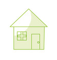 silhouette nice house with architecture design vector image