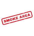 Smoke Area Rubber Stamp vector image vector image