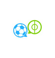 soccer chat logo icon design vector image