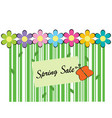 spring sale background with bar code vector image