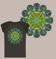 Star Tetrahedron design for a t shirt vector image vector image