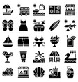 summer vacation related icon set 1 solid style vector image vector image