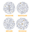 teamwork doodle vector image