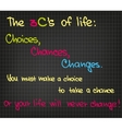 The 3Cs of success vector image vector image