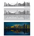 toronto skyline vector image vector image