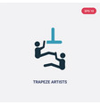 two color trapeze artists icon from animals vector image vector image