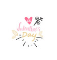 valentine day greeting card element creative vector image