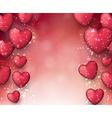 Valentines pink background vector image vector image