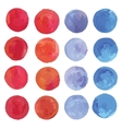 Watercolor circles set vector image vector image