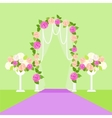 Wedding Arc Door with Flowers Romantic Element vector image