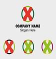 X logo Company name symbol letter X vector image