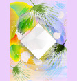 abstract polygonal design with palm leaves vector image