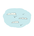Doodle Sky with clouds vector image