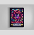 valentines day invitation to a party postcard vector image