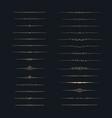 dividers set set of calligraphic design elements vector image