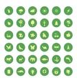 green eco icons set vector image