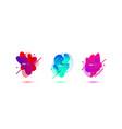 abstract design set liquid shapes vector image vector image