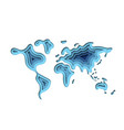 abstract paper cut world map vector image