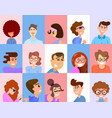 avatars for social networks and applications flat vector image vector image