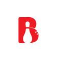 b initial bowling game logo vector image