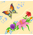 Background of colorful butterflies flying vector image vector image