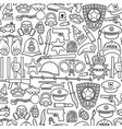 background pattern with police icons vector image vector image