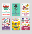 banners or cards set with funny vector image vector image