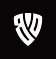bd logo monogram with shield elements shape vector image vector image