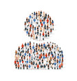big group people standing in a user sign all vector image vector image