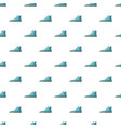 blue boot pattern vector image vector image